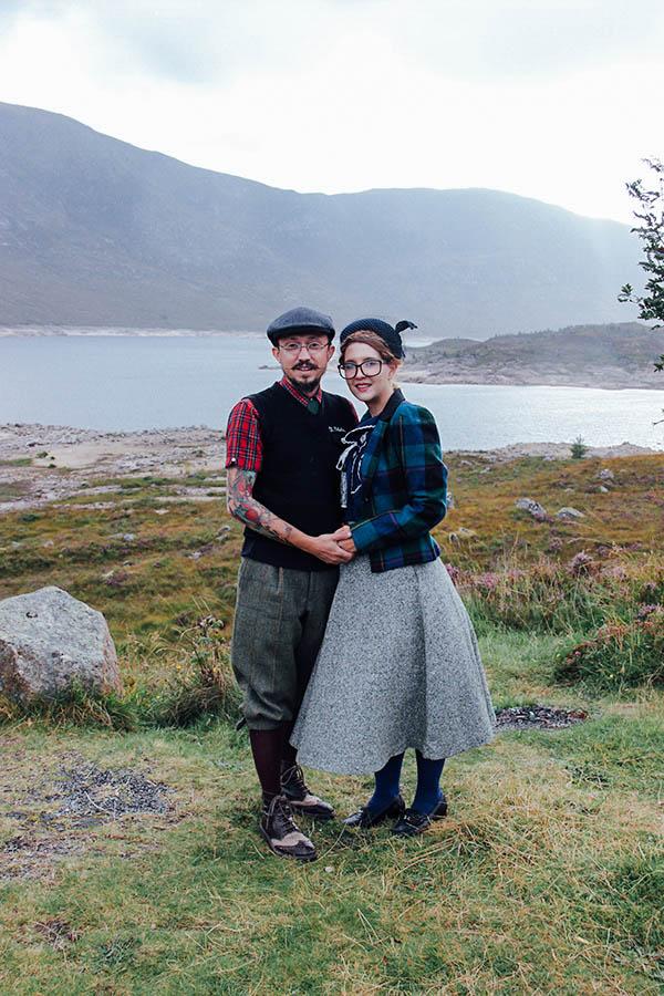 Scotland Loch Ness castle Urquhart Nella Fragola tweed vintage Francois amoretti Lena Hoschek